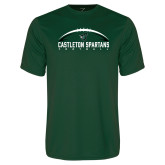 Performance Dark Green Tee-Football Design