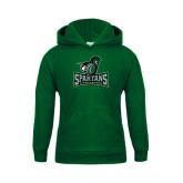 Youth Dark Green Fleece Hood-Primary Mark