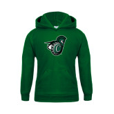 Youth Dark Green Fleece Hoodie-Spartan w/ Shield