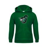 Youth Dark Green Fleece Hood-Spartan w/ Shield