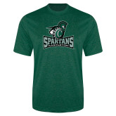 Performance Dark Green Heather Contender Tee-Primary Mark