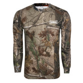Realtree Camo Long Sleeve T Shirt w/Pocket-Wordmark Tone