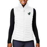 Columbia Mighty LITE Ladies White Vest-Spartan w/ Shield