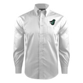 Red House White Dobby Long Sleeve Shirt-Spartan w/ Shield