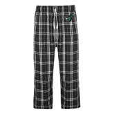 Black/Grey Flannel Pajama Pant-Spartan w/ Shield