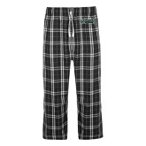 Black/Grey Flannel Pajama Pant-Wordmark