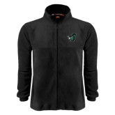 Fleece Full Zip Black Jacket-Spartan w/ Shield
