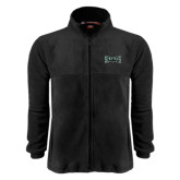 Fleece Full Zip Black Jacket-Wordmark