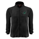 Fleece Full Zip Black Jacket-Spartan Head