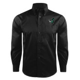 Red House Black Herringbone Long Sleeve Shirt-Spartan w/ Shield