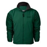 Dark Green Survivor Jacket-Wordmark Tone