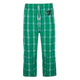 Green/White Flannel Pajama Pant-Spartan w/ Shield