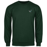 Dark Green Fleece Crew-Spartan w/ Shield