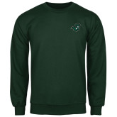 Dark Green Fleece Crew-Spartan Head