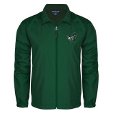 Full Zip Dark Green Wind Jacket-Spartan w/ Shield