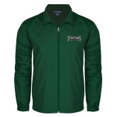 Full Zip Dark Green Wind Jacket-Wordmark