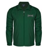 Full Zip Dark Green Wind Jacket-Wordmark