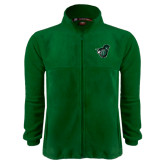 Fleece Full Zip Dark Green Jacket-Spartan w/ Shield