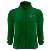 Fleece Full Zip Dark Green Jacket-Spartan w/ Shield