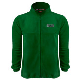 Fleece Full Zip Dark Green Jacket-Wordmark