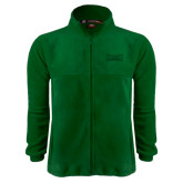 Fleece Full Zip Dark Green Jacket-Wordmark Tone