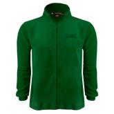 Fleece Full Zip Dark Green Jacket-Wordmark Tone