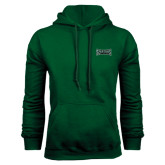 Dark Green Fleece Hood-Wordmark