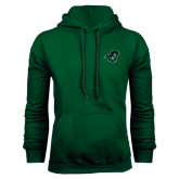 Dark Green Fleece Hood-Spartan Head