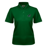 Ladies Dark Green Dry Mesh Polo-Spartan Head
