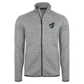 Grey Heather Fleece Jacket-Spartan w/ Shield