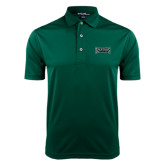 Dark Green Dry Mesh Polo-Wordmark