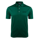 Dark Green Dry Mesh Polo-Wordmark Tone
