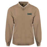 Khaki Executive Windshirt-Wordmark