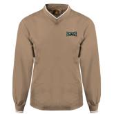 Khaki Executive Windshirt-Wordmark