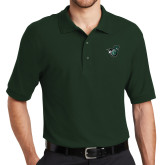 Dark Green Easycare Pique Polo-Spartan w/ Shield