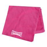 Pink Beach Towel-Wordmark Tone