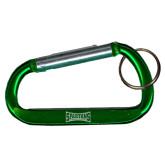 Green Carabiner with Split Ring-Wordmark Engraved