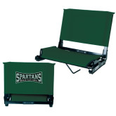 Stadium Chair Dark Green-Wordmark