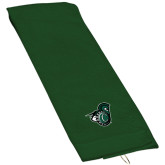 Dark Green Golf Towel-Spartan w/ Shield