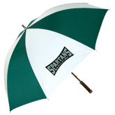 62 Inch Forest Green/White Umbrella-Wordmark