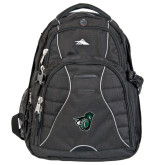 High Sierra Swerve Black Compu Backpack-Spartan w/ Shield