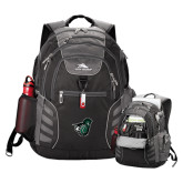 High Sierra Big Wig Black Compu Backpack-Spartan w/ Shield
