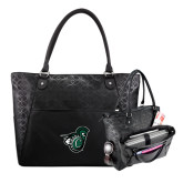 Sophia Checkpoint Friendly Black Compu Tote-Spartan w/ Shield