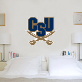 2 ft x 2 ft Fan WallSkinz-CSU-Swords Logo