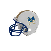 Riddell Replica White Mini Helmet-CSU-Swords Logo