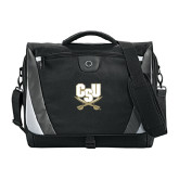 Slope Compu Black/Grey Messenger Bag-CSU-Swords Logo