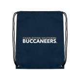 Navy Drawstring Backpack-Charleston Southern Buccaneers