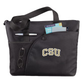 Excel Black Sport Utility Tote-CSU Arched