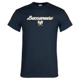 Navy T Shirt-Buccaneers Script