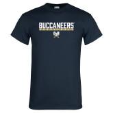 Navy T Shirt-Basketball in Bar